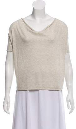 Demy Lee Cashmere Short Sleeve Top