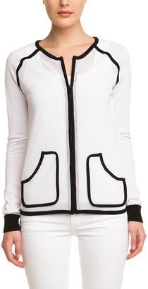 Joan Vass Bright White Mesh Jacket