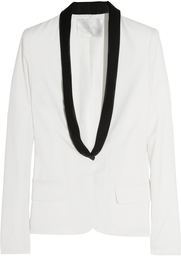 A.L.C. Ruby wool-blend crepe tuxedo jacket