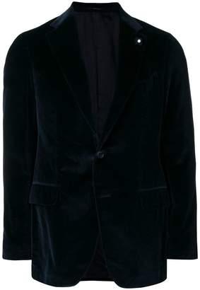 Lardini single-breasted velvet blazer