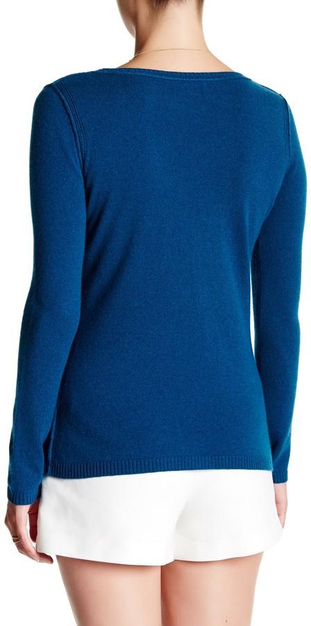 In Cashmere Cashmere Open-Stitch Pullover Sweater 20