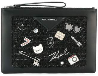 Karl Lagerfeld Paris Klassik Pins clutch