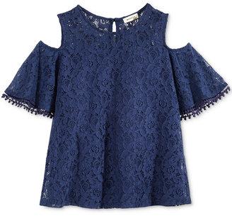 Monteau Cold-Shoulder Lace Top, Big Girls (7-16) $32 thestylecure.com