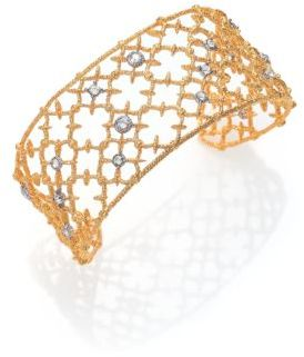 Alexis Bittar Elements Gilded Muse Crystal Small Spur Lace Cuff Bracelet $195 thestylecure.com