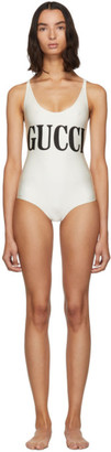 Gucci Off-White Sparking One-Piece Swimsuit