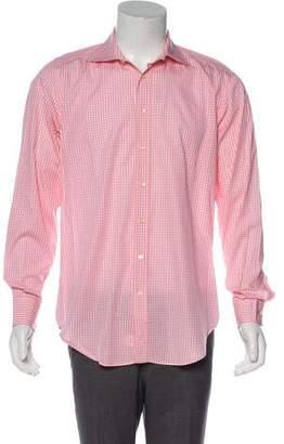Etro Gingham Print Button-Up Shirt
