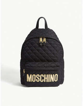 Moschino Logo quilted nylon backpack