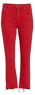 Mother Women's Insider Crop Step Fray Hem Jeans