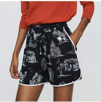 Maje Shorts With Paris Print