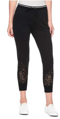 Juicy Couture French Terry Lace Cropped Jogger
