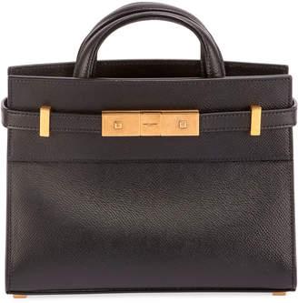 Saint Laurent Manhattan Belted Leather Tote Bag