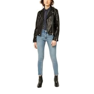 Warehouse Faux Leather Core Biker Jacket