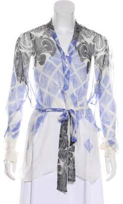 Jonathan Saunders Printed Long Sleeve Blouse