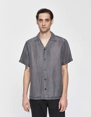 Saturdays NYC Canty Denim Button Up Shirt in Washed Black