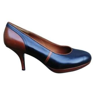 Dries Van Noten Black Leather Heels