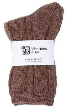 Johnstons of Elgin Cashmere Cable Knit Socks