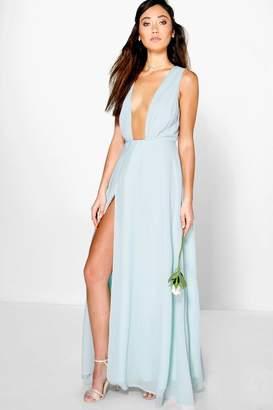 boohoo Eloise Wrap Front Chiffon Maxi Dress $44 thestylecure.com