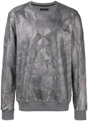 Frankie Morello metallic geometric sweatshirt
