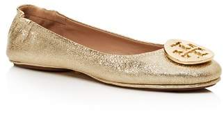 Tory Burch Minnie Metallic Leather Travel Ballet Flats