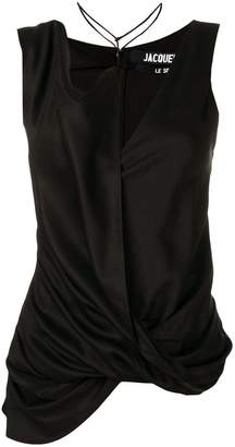 Jacquemus Dhabia asymmetrical draped top