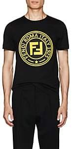 Fendi Men's Logo-Print Cotton T-Shirt - Black
