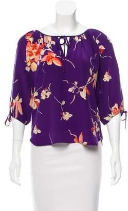 Yumi Kim Floral Silk Blouse