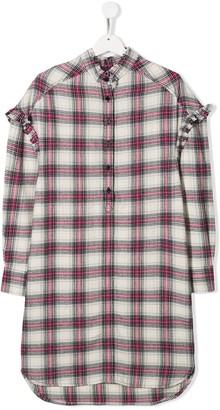 Zadig & Voltaire Kids TEEN checked shirt dress