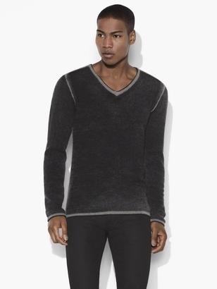 Merino Wool V-Neck Sweater $278 thestylecure.com