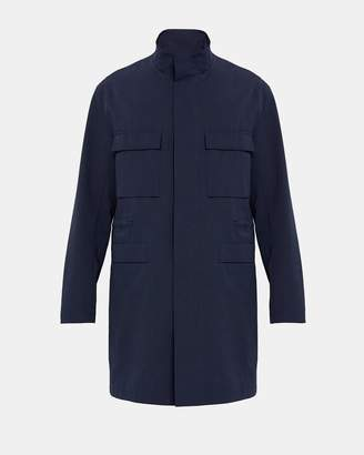 Theory Technical Faille Long Military Jacket