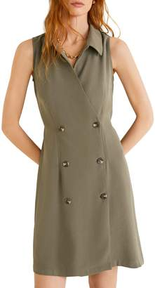 MANGO Bowie Double-Breasted Shirtdress
