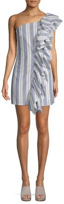 Free Generation One-Shoulder Ruffle Dress