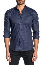 Jared Lang Slim Fit Check Button-Up Sport Shirt