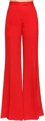 Elie Saab Wide Leg Silk Georgette Pants