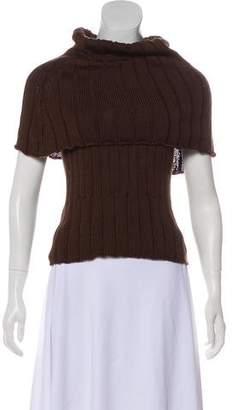Chanel Draped Rib Knit Sweater