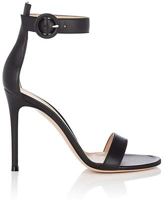Gianvito Rossi Women's Portofino Leather Ankle-Strap Sandals