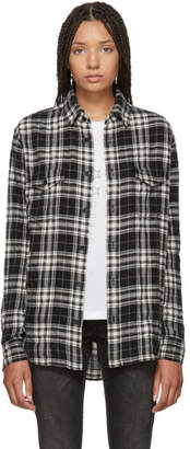 Saint Laurent Black and White Check Look 61 Shirt