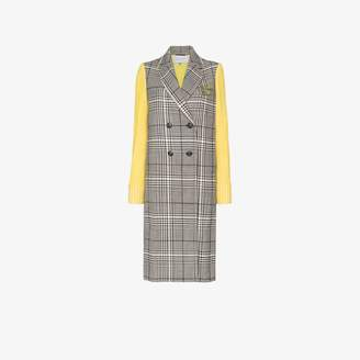 Mira Mikati double-breasted contrast sleeve coat