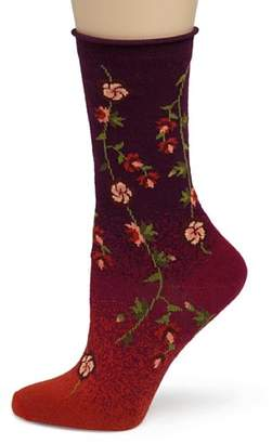 Ozone Women's Tibetan Flowers Sock