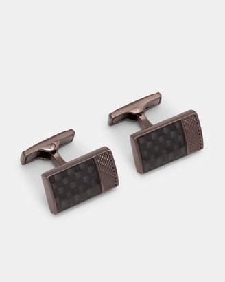 Ted Baker BOGARD Carbon fibre cufflinks