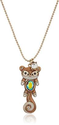 Betsey Johnson Mini Critters Squirrel Pendant Necklace