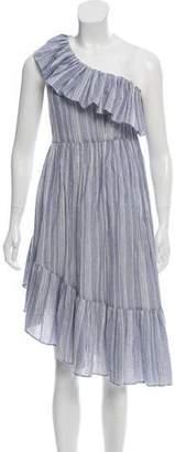LoveShackFancy Striped Midi Dress