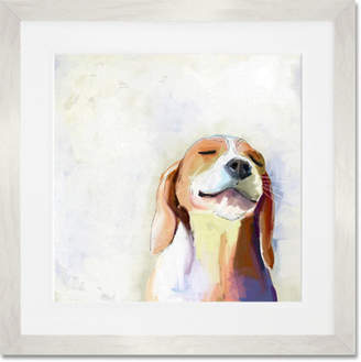 GreenBox Art 'Best Friend - Beagle Grin' by Cathy Walters Framed Painting Print Frame