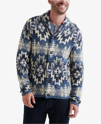 Lucky Brand Men Ombre Shawl Cardigan Sweater