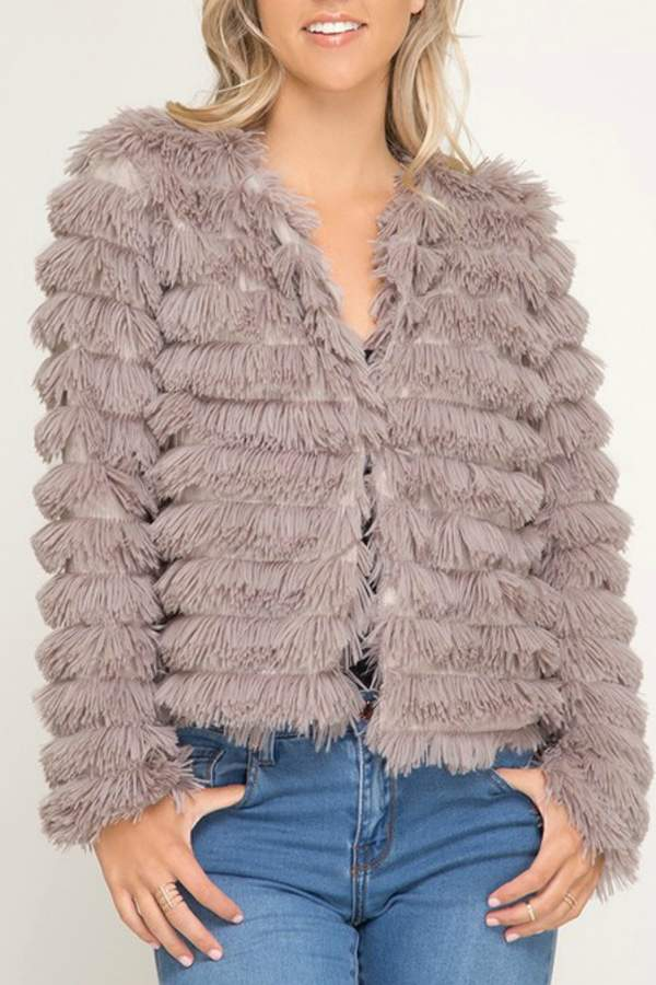 She + Sky Faux Fur Jacket