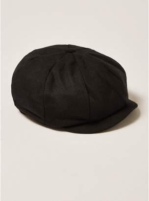 Topman Mens Black Baker Boy Cap