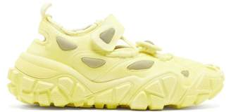 Acne Studios Bryz Velcro Strap Suede Trainers - Womens - Yellow White