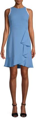 Shoshanna Grove Ruffle Trim Sheath Dress