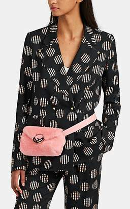 BROGGER Women's Gingham Floral Double-Breasted Blazer - Black