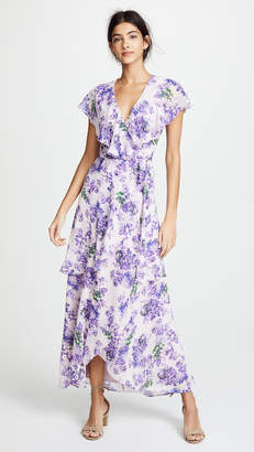 WAYF Polermo Layered Maxi Wrap Dress