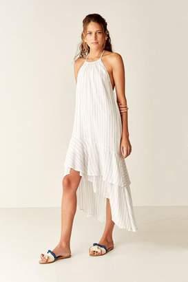 bf41fba3af68d Suboo Stripe Halter Maxi Dress - White Stripe